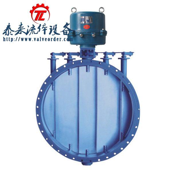 r电动执行器或dkz电动执行器多叶阀体组成,用于调节和启闭空气,烟气图片